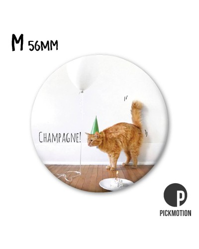 MAGNET CHAT CHAMPAGNE